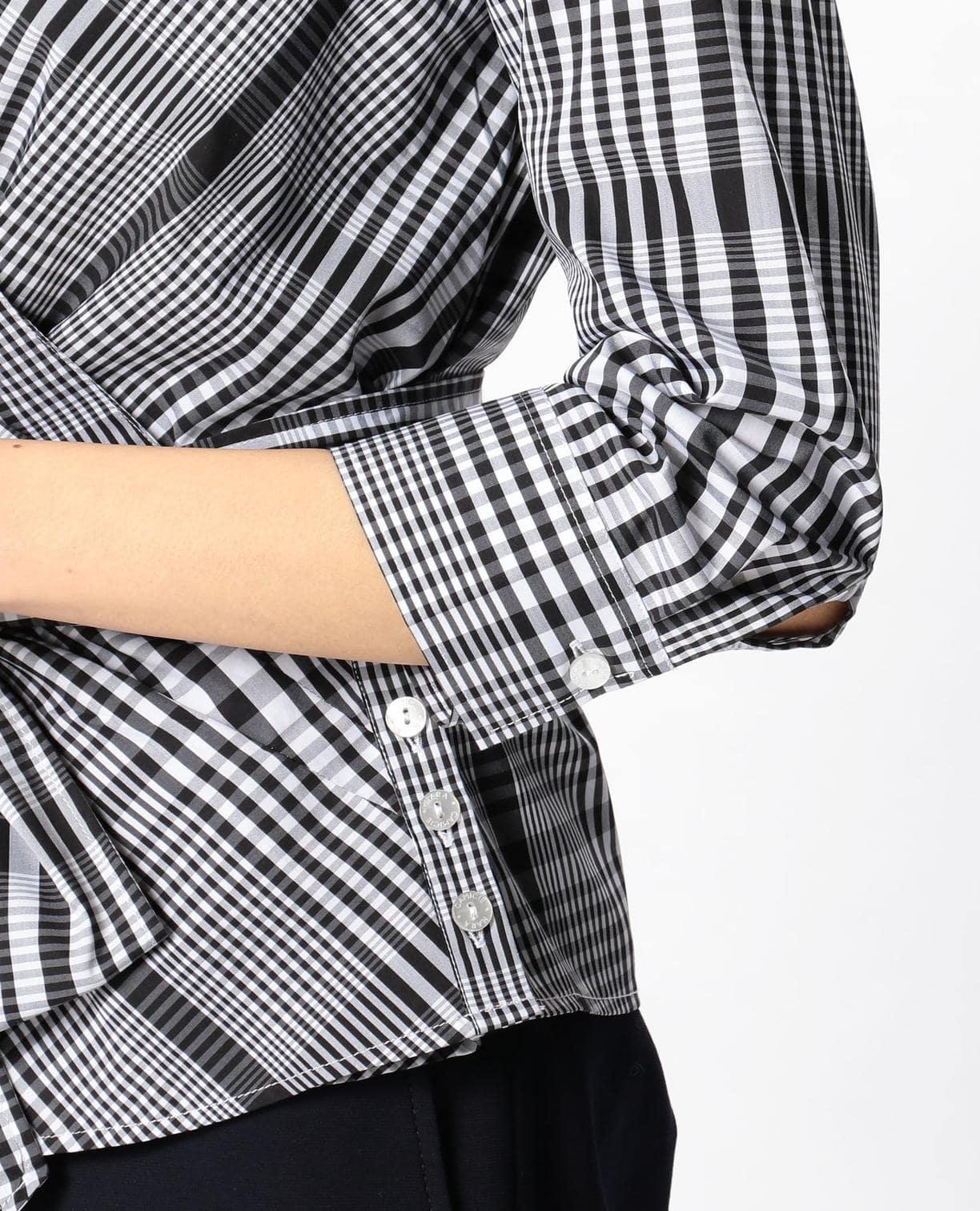イタリアンチェックカシュクールシャツ