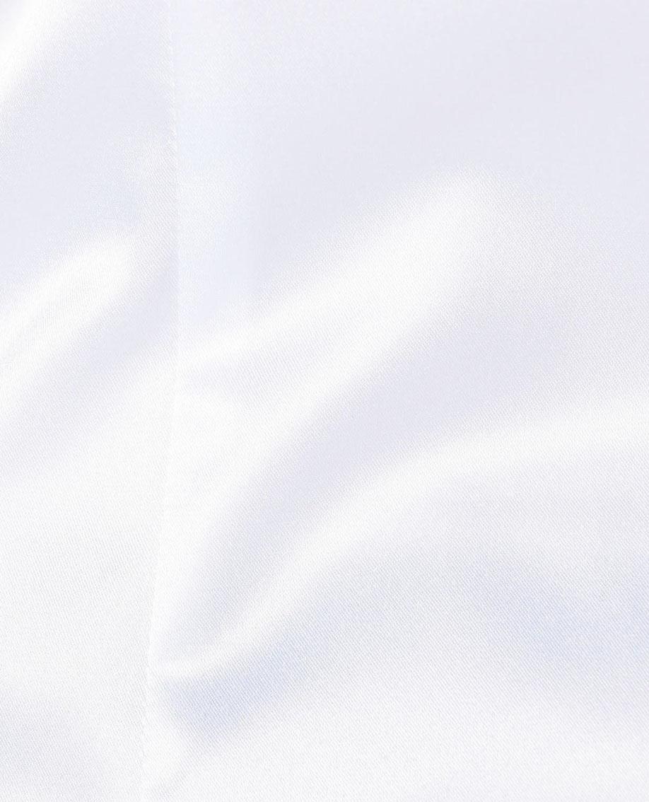 サテンギャザーフリル長袖ブラウス