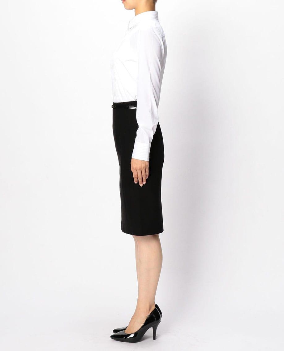 パールジャージサイド切り替えタイトスカート