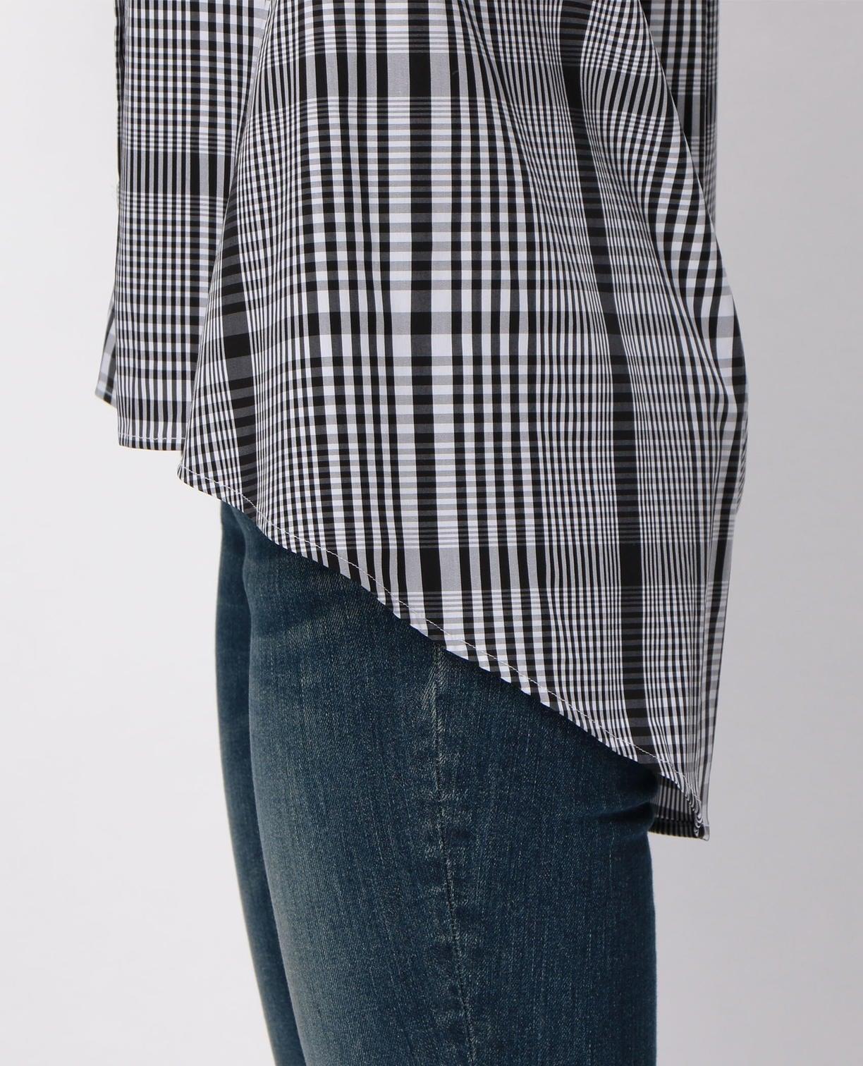イタリアンチェック半袖ビックシャツ