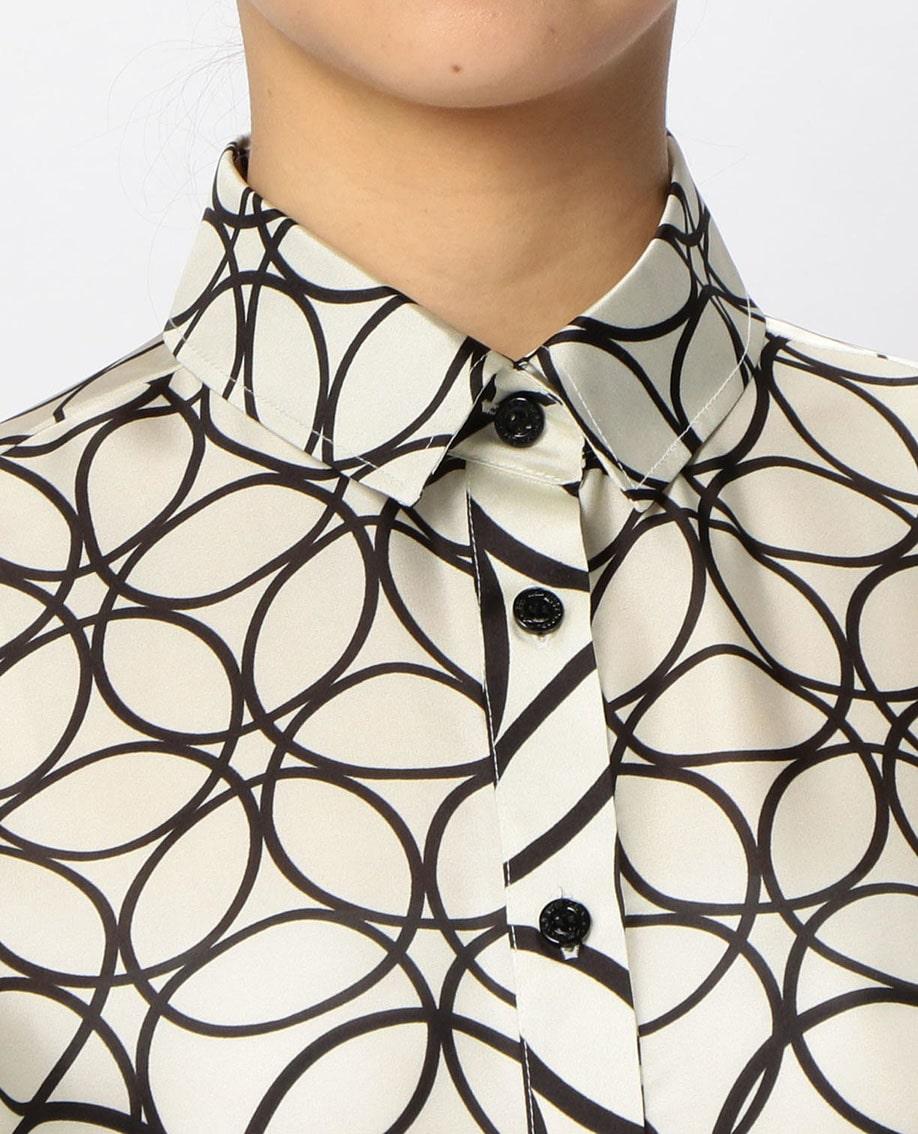 サークルキカ柄長袖シャツ