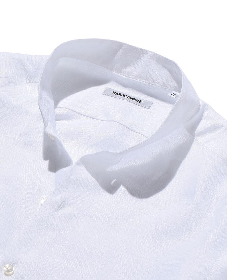 【MEN'S】ジャカード織柄バンドカラー長袖シャツ