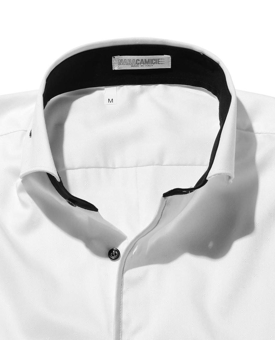 【MEN'S】シャンブレージャカードパイピング長袖シャツ