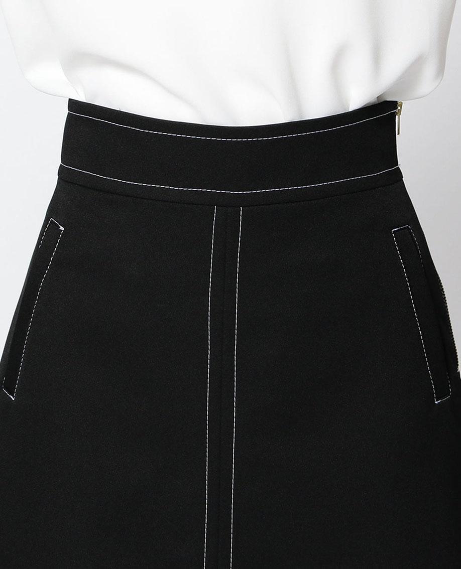 バイカラーステッチフォルムスカート