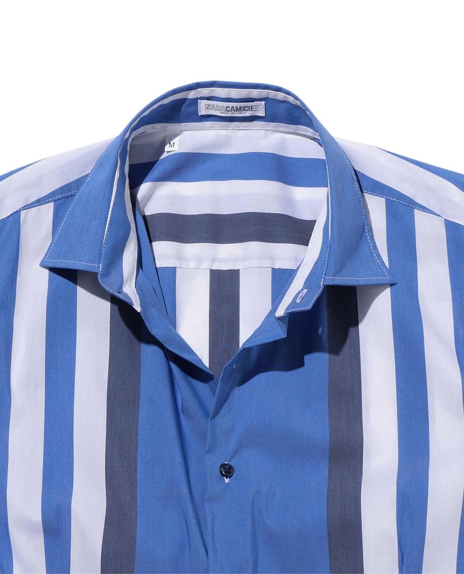 【MEN'S】ボールドストライプ半袖シャツ