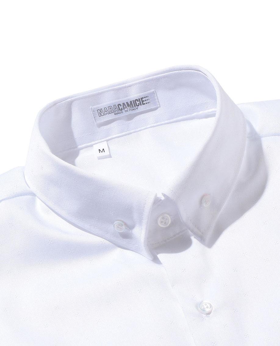 【MEN'S】シャンブレージャカード長袖シャツ