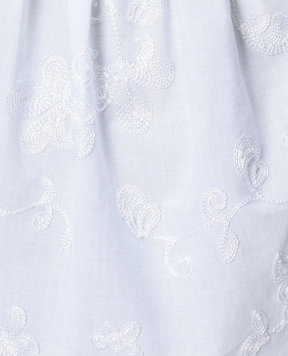 フラワー刺繍プルオーバーロングブラウス