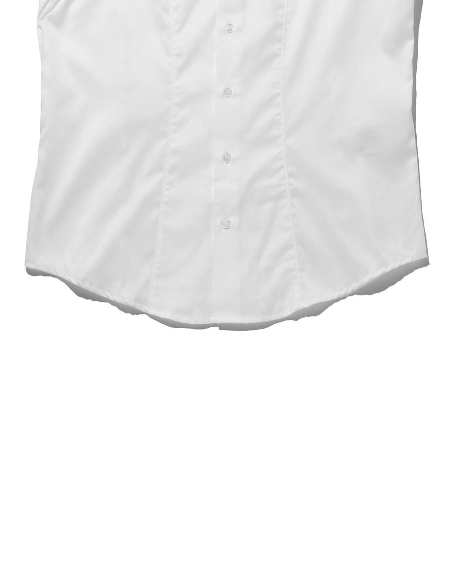 【MEN'S】コットンシャンブレースモールカラー長袖シャツ