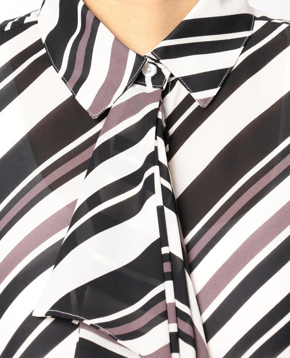 バイヤスプリントラッフルタイシャツ