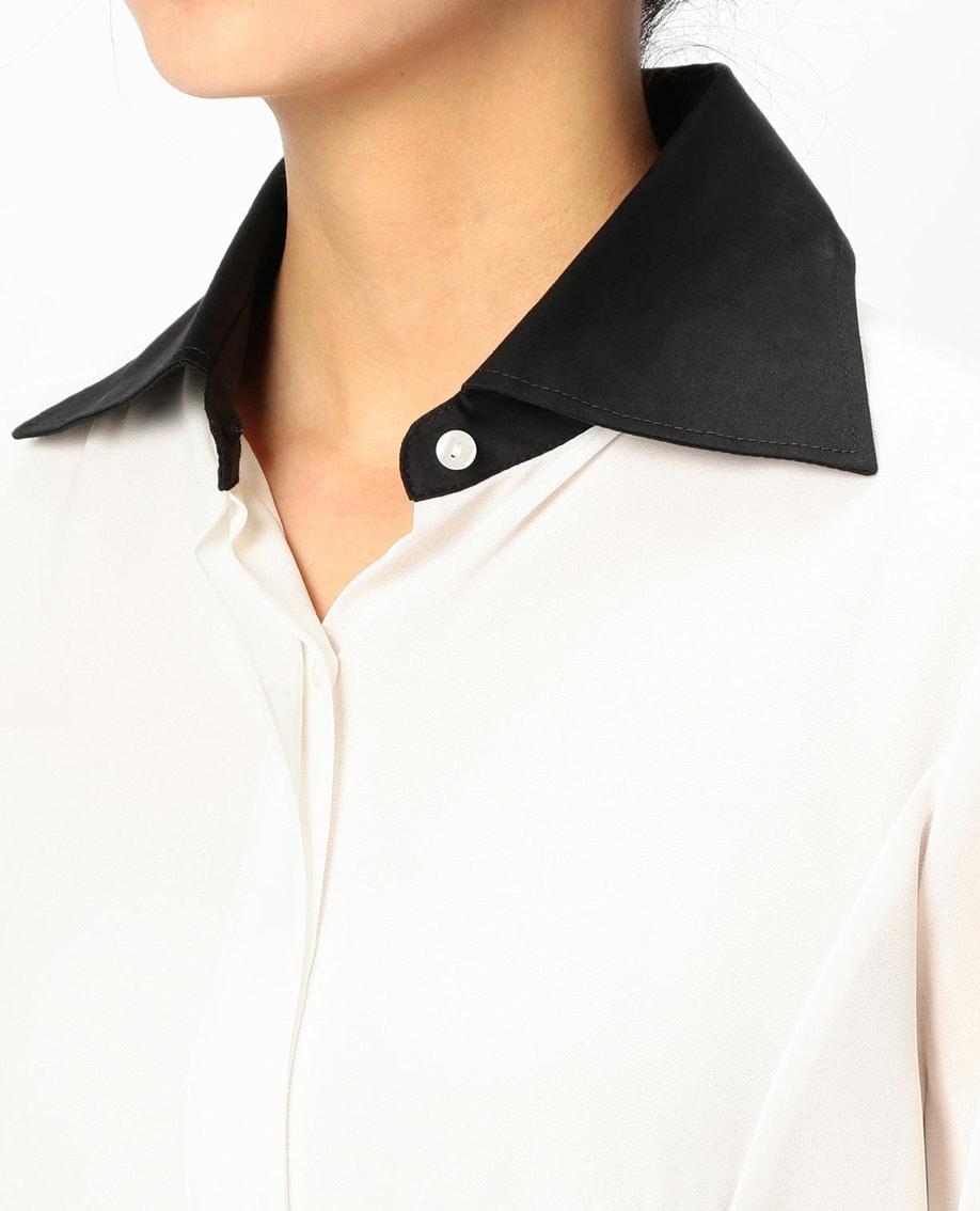 スカーフリボン付とろみシャツ