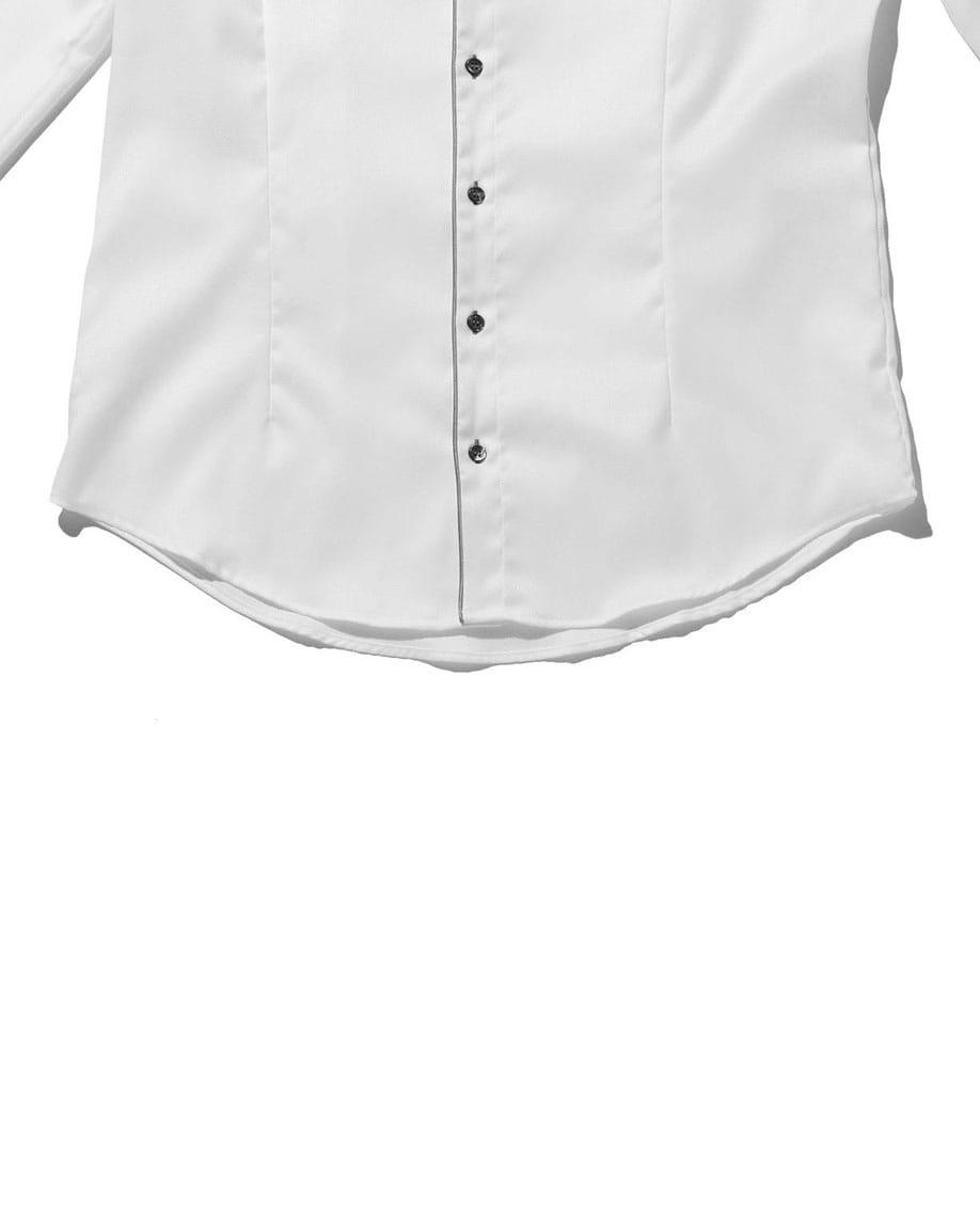【MEN'S】シャンブレーパイピング長袖シャツ