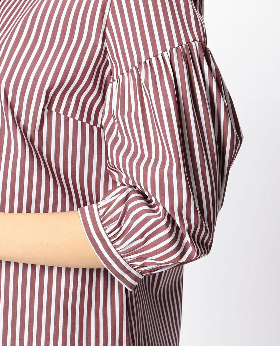 ロンドンストライプボリューム袖シャツ