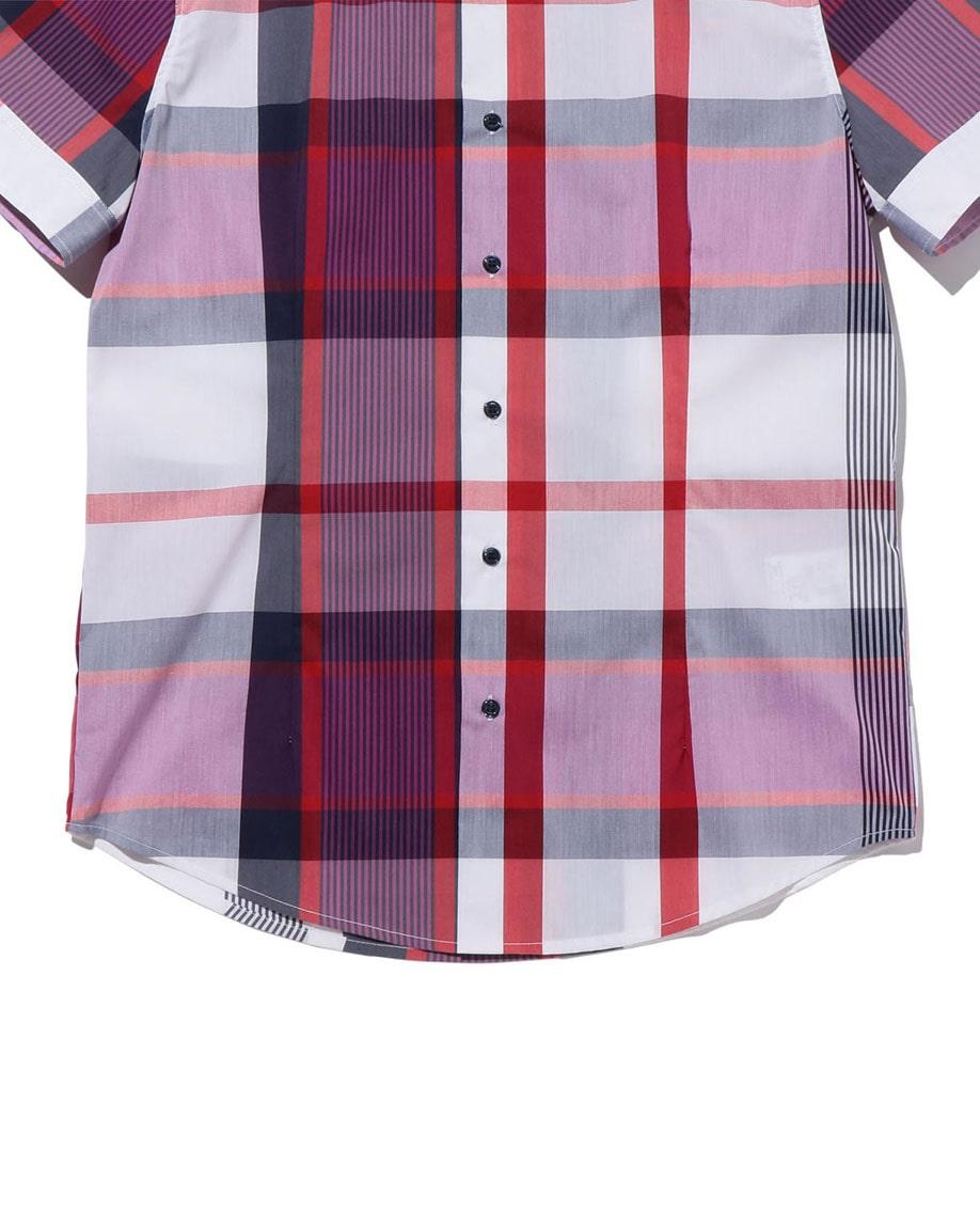 【MEN'S】イタリアンチェック半袖シャツ