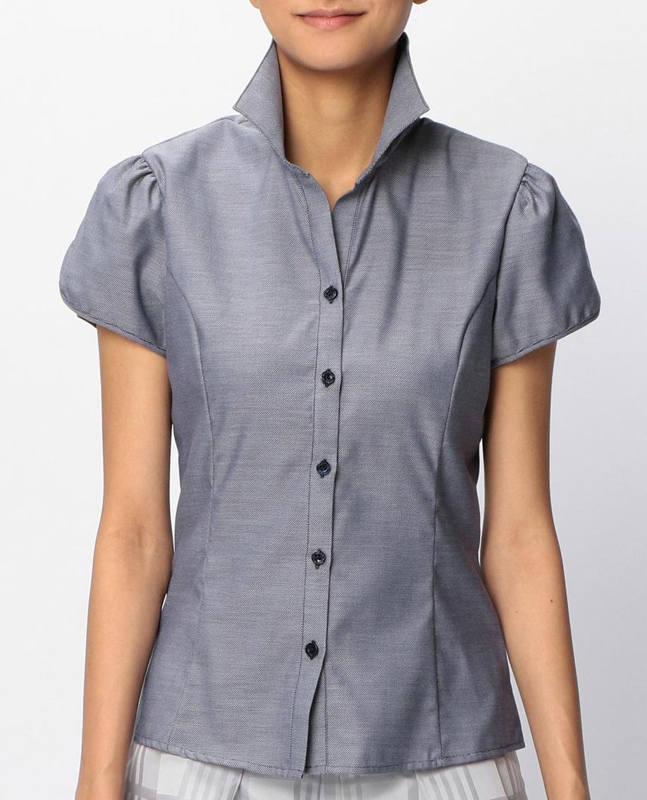 オックスフォードチューリップスリーブ半袖シャツ