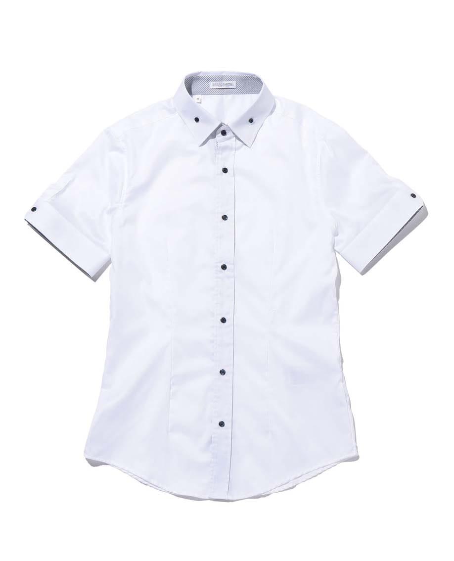 【MEN'S】ボタンダウン半袖シャツ