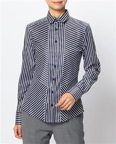 ミラノストライプ切り替えシャツ