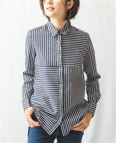 ミラノストライプビックチュニックシャツ