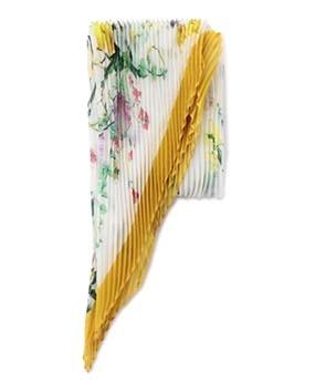 フラワー柄プリーツスカーフ