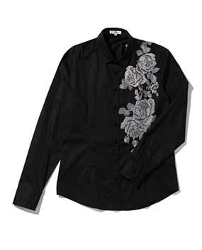【MEN'S】コットン刺繍長袖シャツ