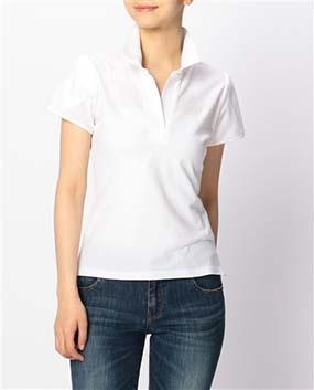 ストレッチカノコスタンドカラー半袖カットソーシャツ
