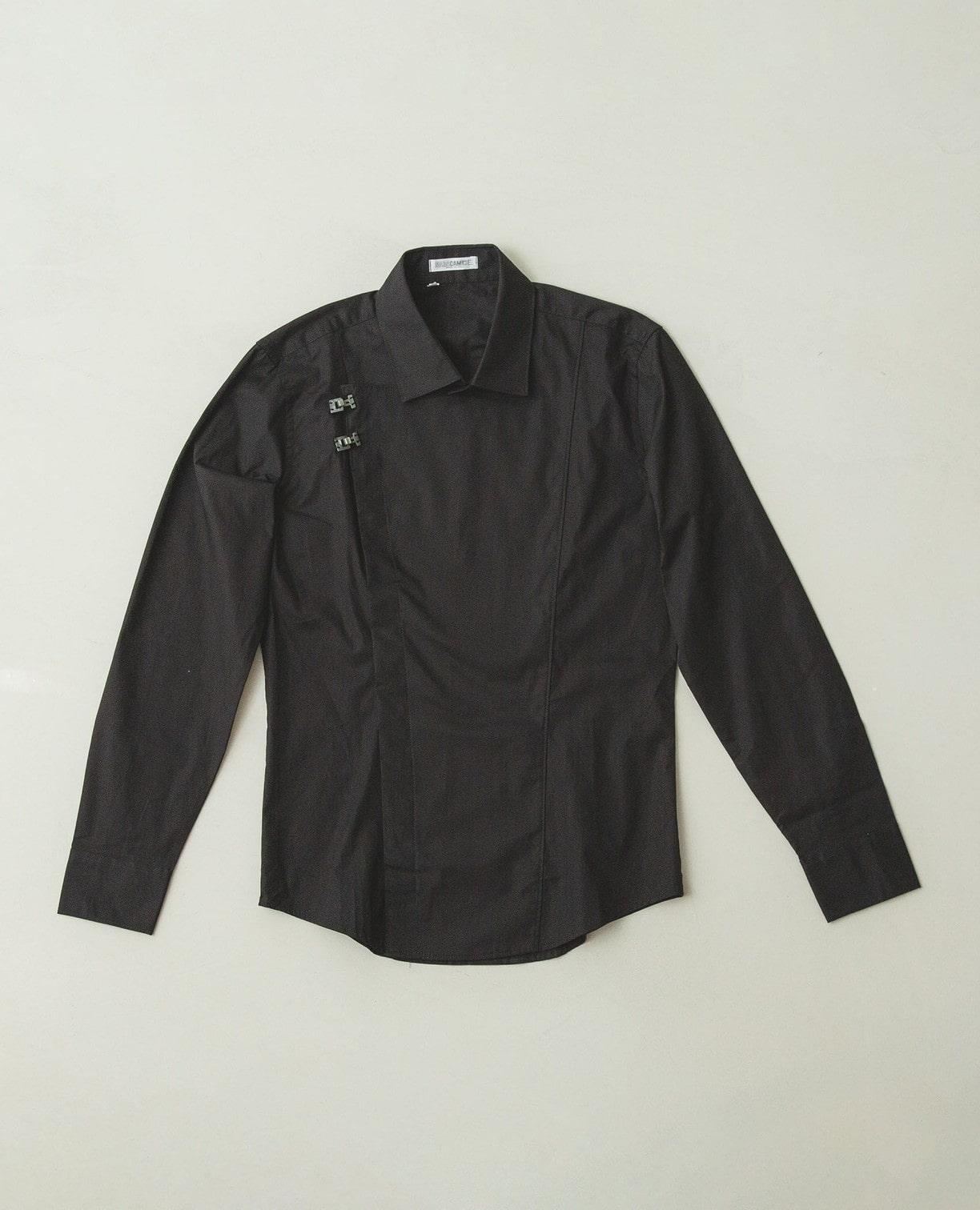 変形前合わせ長袖シャツ