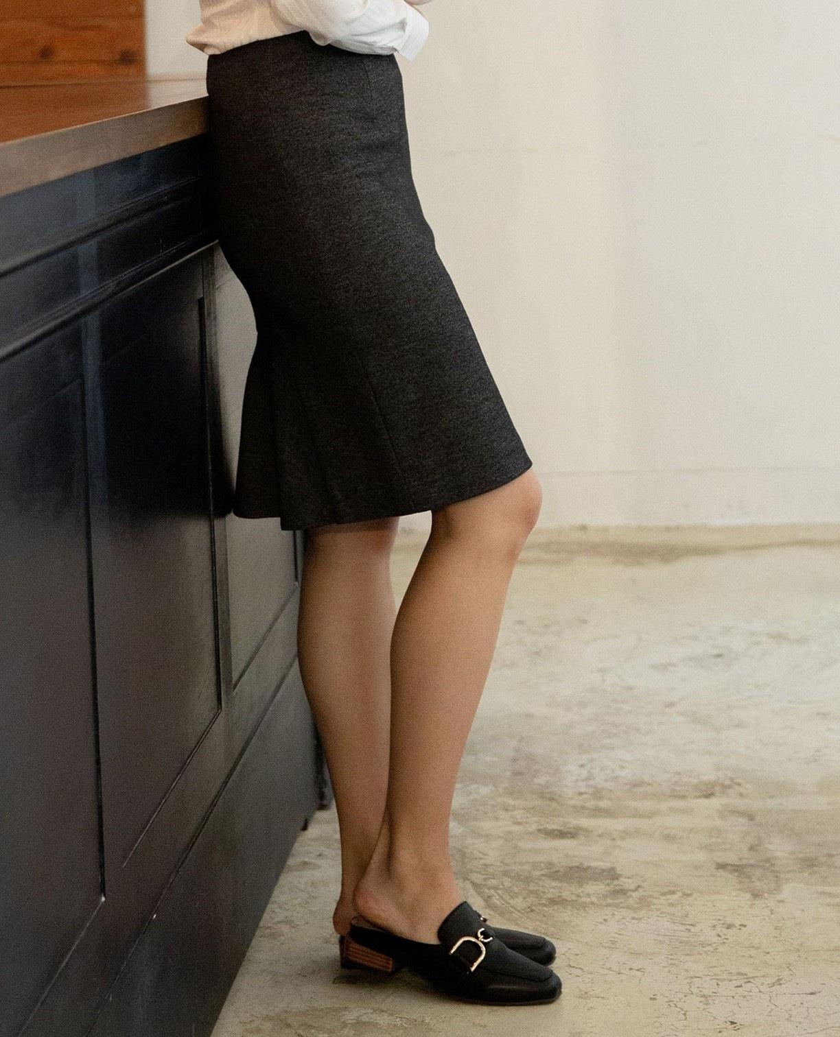 《セットアップスーツ対応》バーズアイタイトスカート