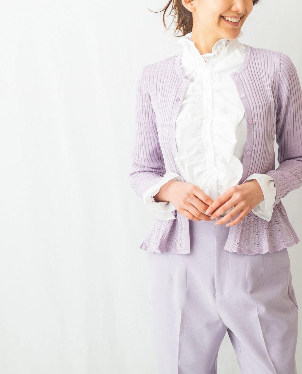 綿系ドビースタンドフリルシャツ