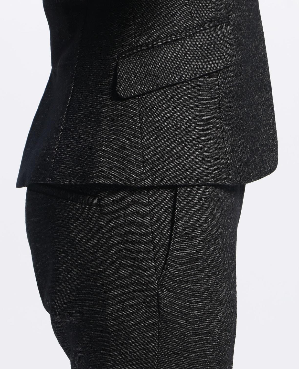 《セットアップスーツ対応》バーズアイスタンドカラージャケット