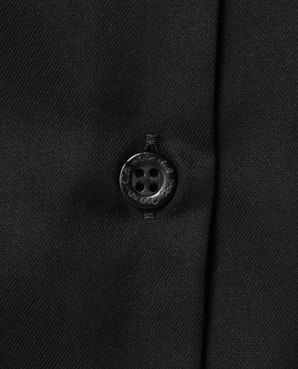 コットンシャンブレーベーシックカラー長袖ブラウス