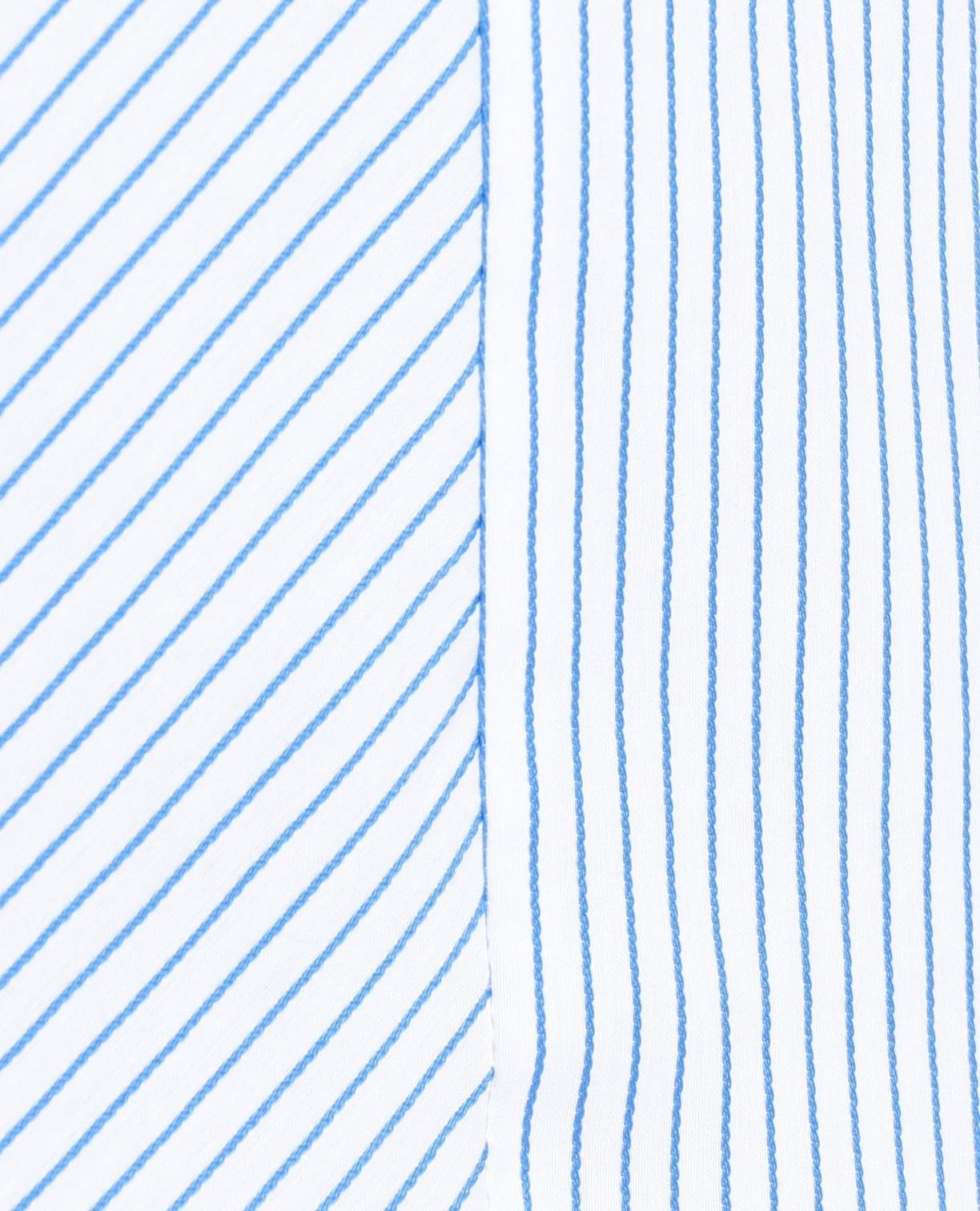 イタリアンストライプ切り替え長袖シャツ