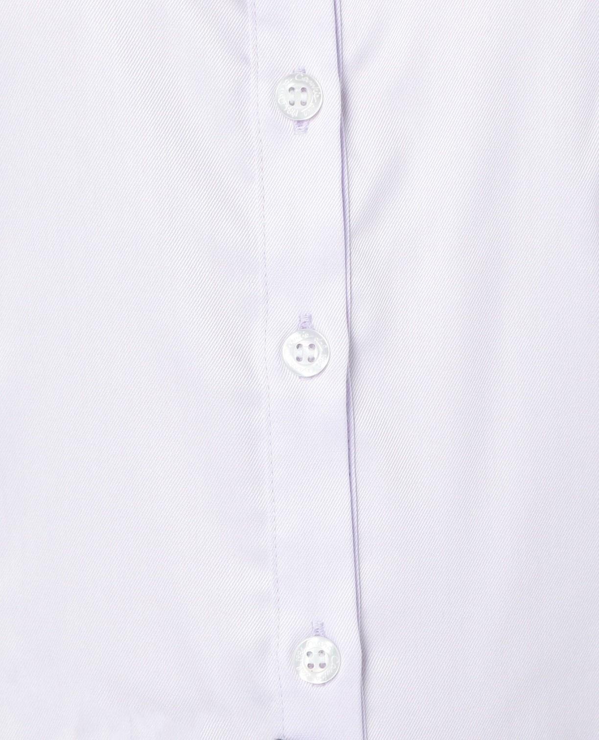 コットンツイルスタンドカラー長袖シャツ