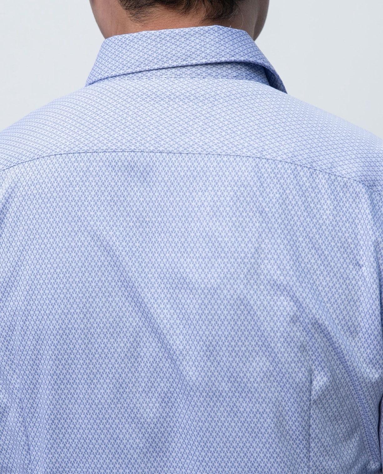 小紋柄カットソー長袖シャツ