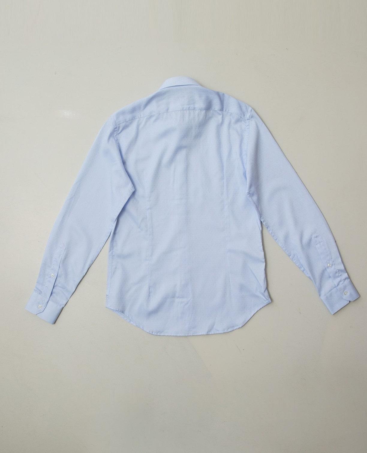 小柄ドビー長袖シャツ