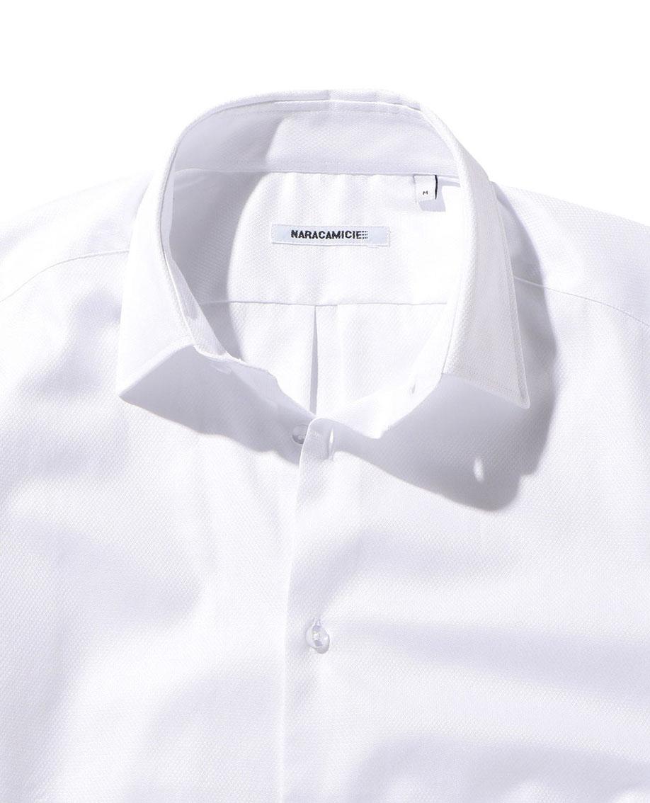 【MEN'S】織り柄長袖シャツ