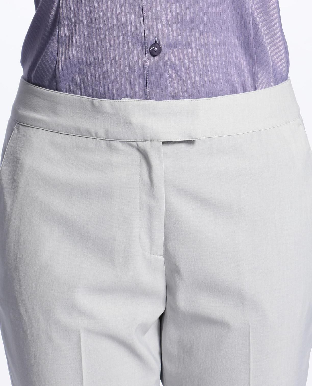 《セットアップスーツ対応》キュプラポリエステル9分丈パンツ