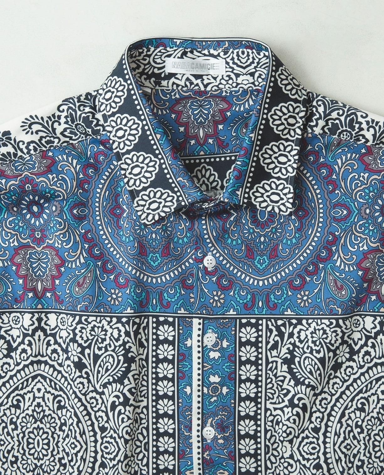 アラベスク柄長袖シャツ