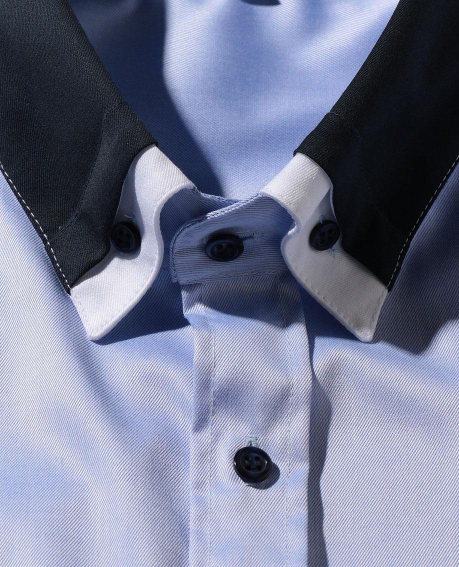 【MEN'S】コットンツイルクレリックBD長袖シャツ