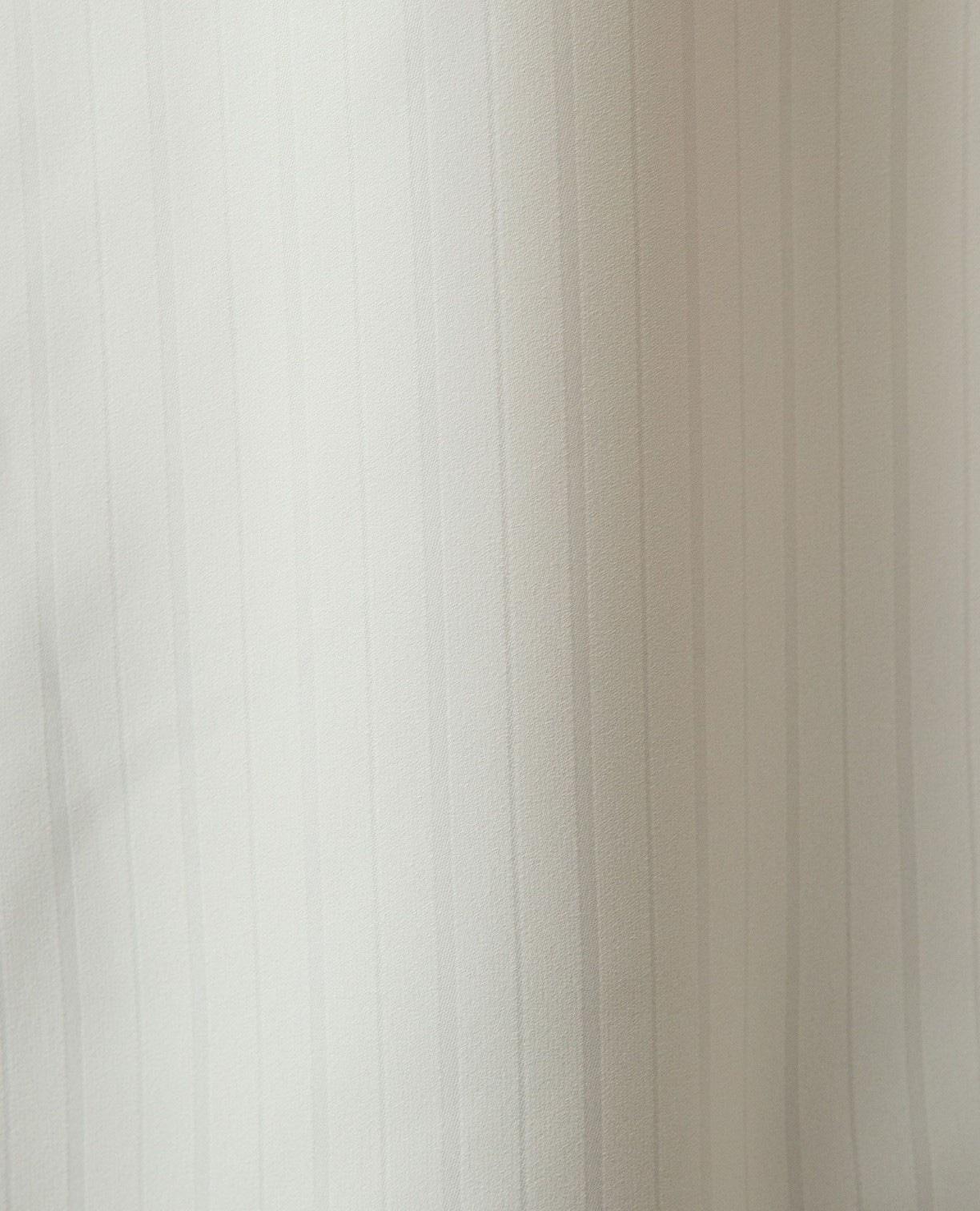 シャドーストライプスキッパー七分袖ブラウス