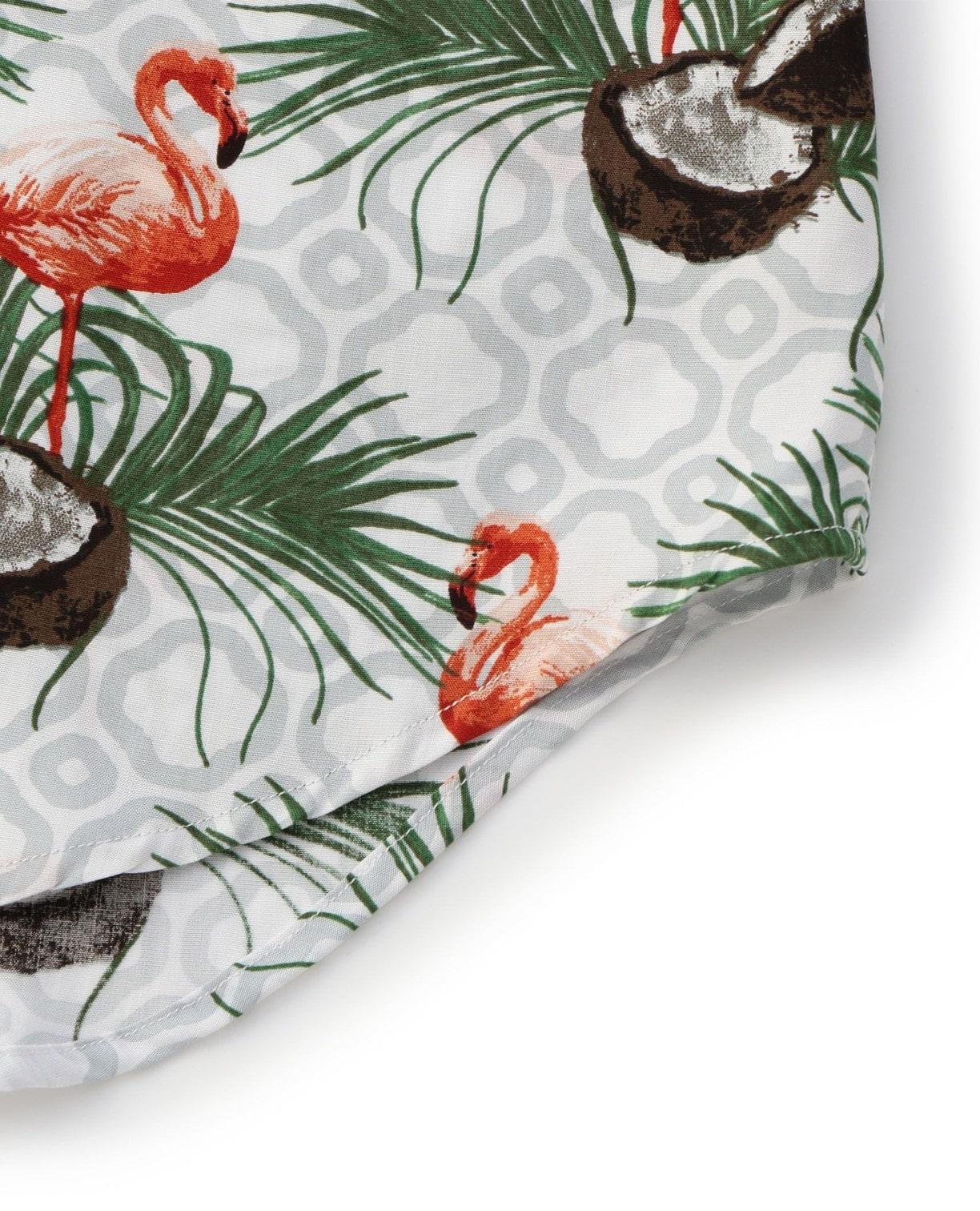 フラミンゴモチーフ長袖シャツ
