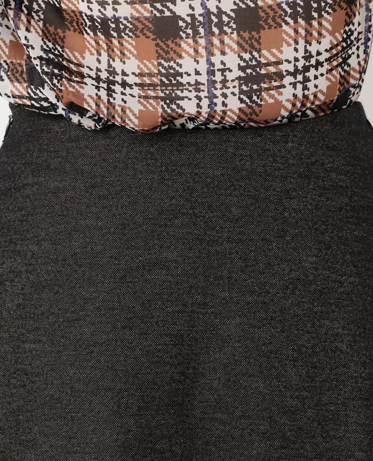 《セットアップスーツ対応》バーズアイフレアスカート