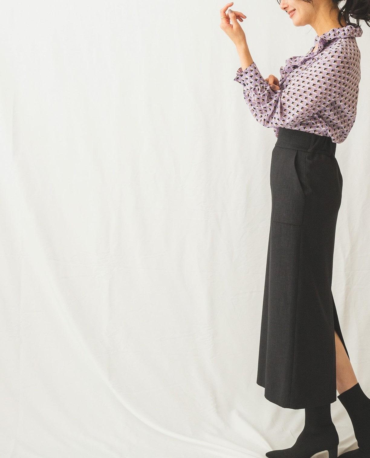 麻調スカート