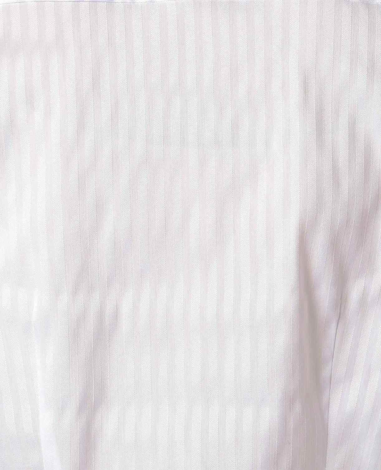 スーパーストレッチサテンストライプ長袖シャツ