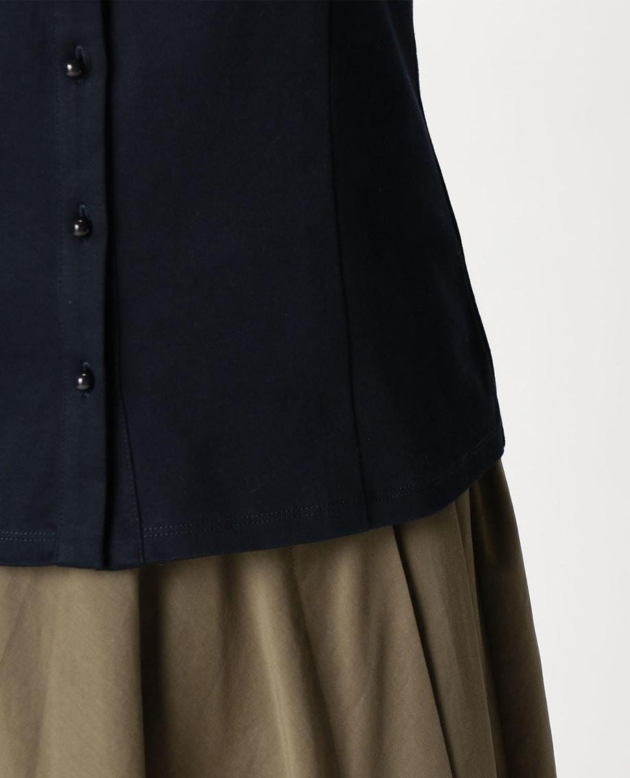 レースヨーク半袖カットソーシャツ