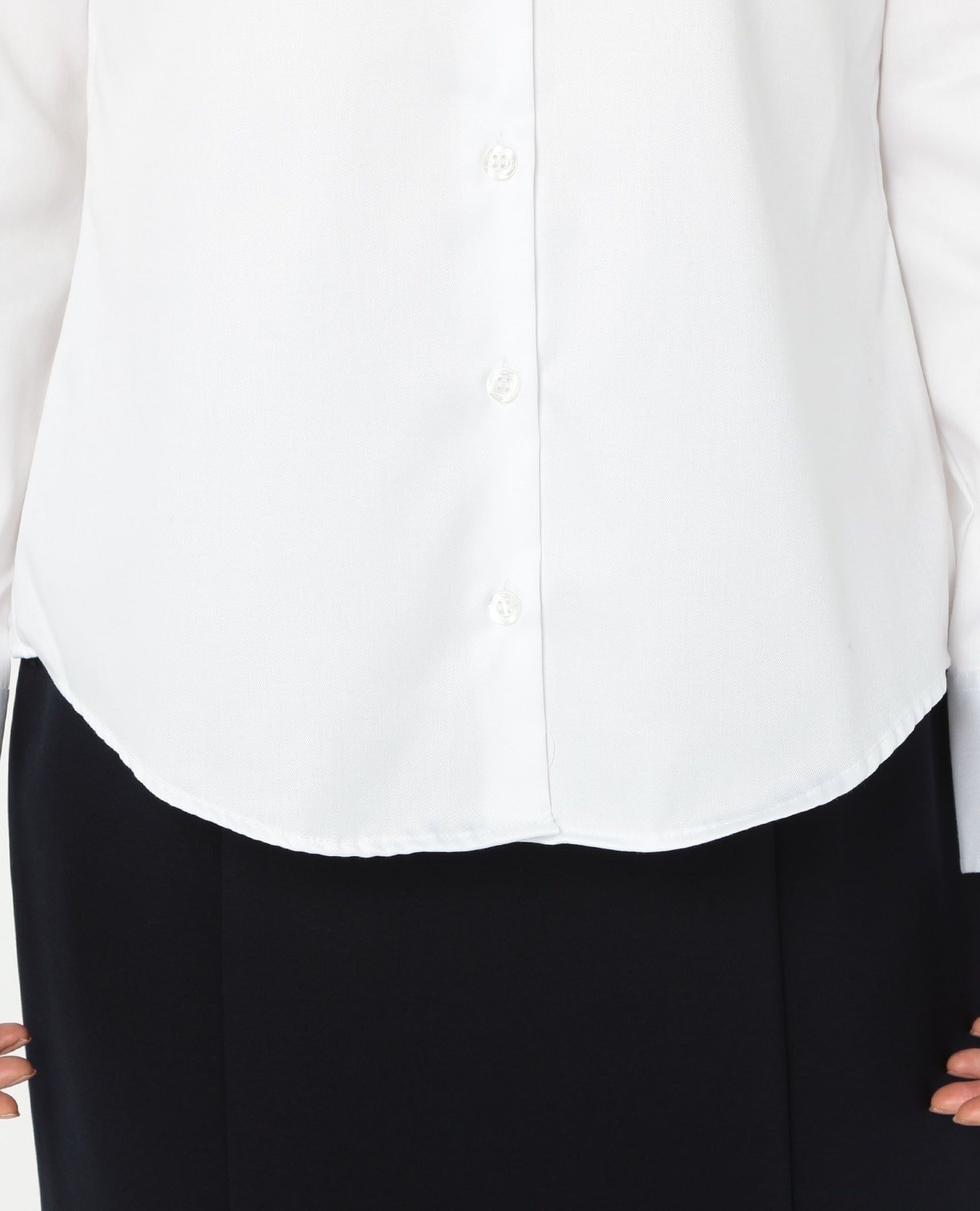 コットンツイル長袖シャツ