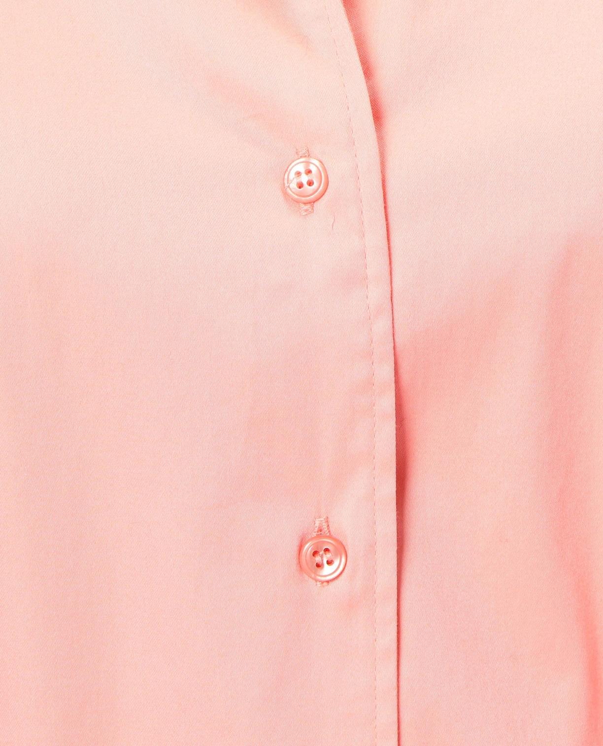 ストレッチサテンウエストリボン七分袖シャツ