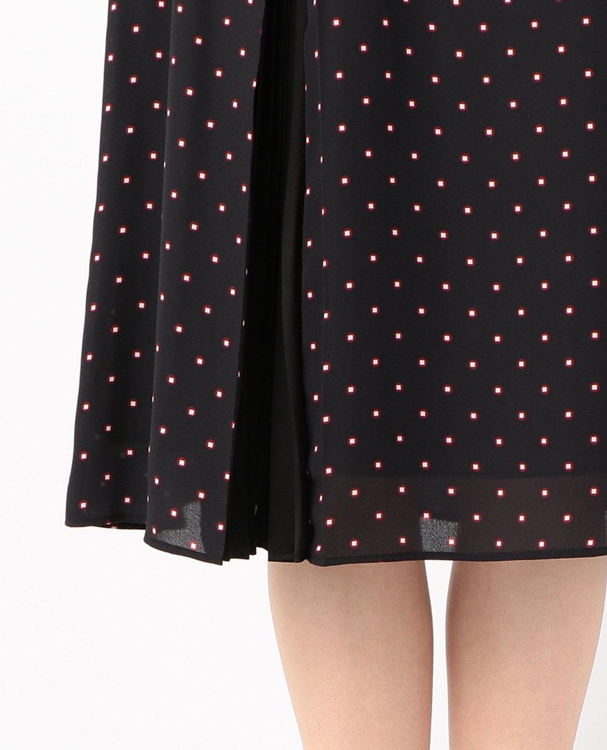 《セットアップ対応》ミニドットスクエアープリントスカート