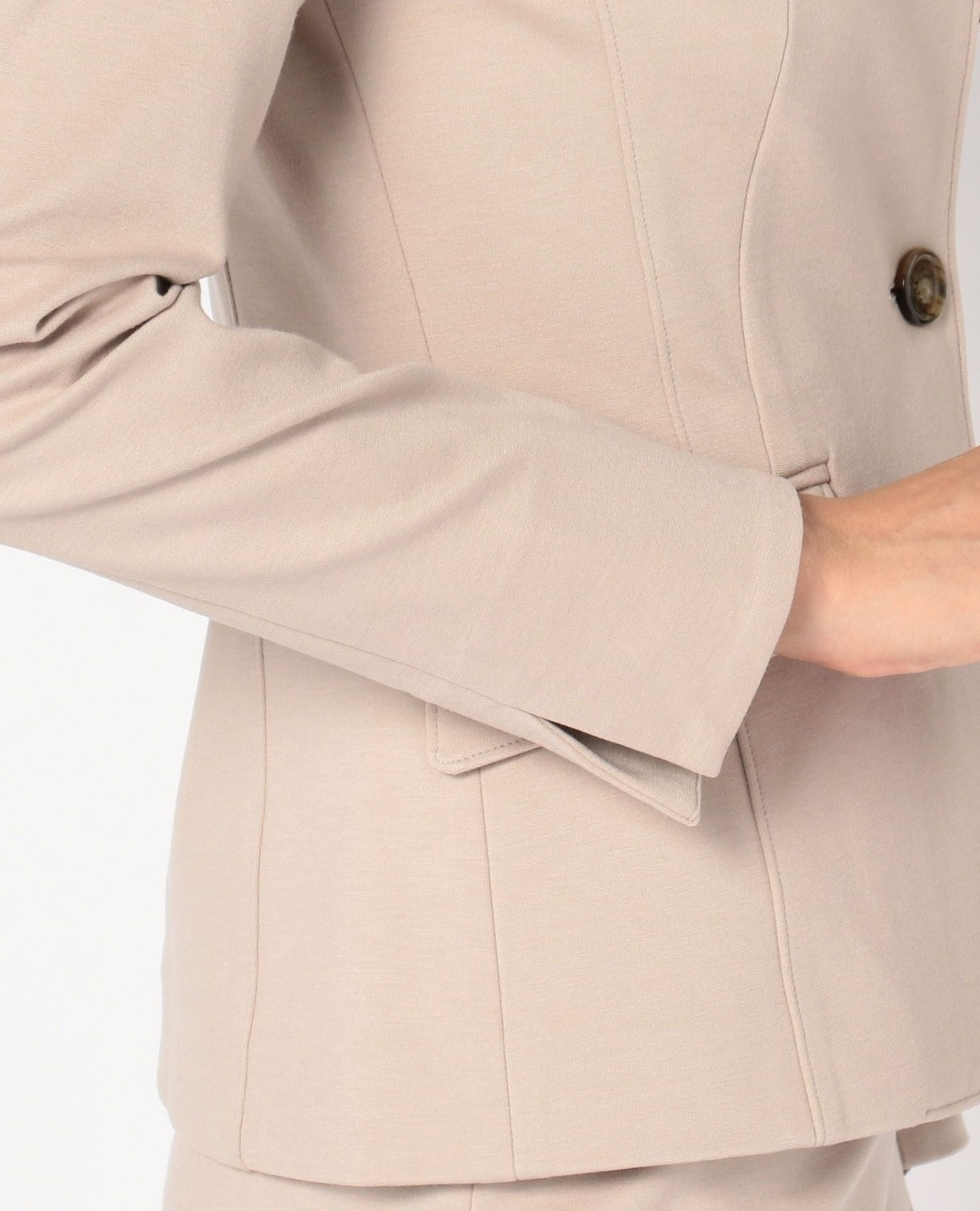 《セットアップスーツ対応》ポンチスタンドカラージャケット