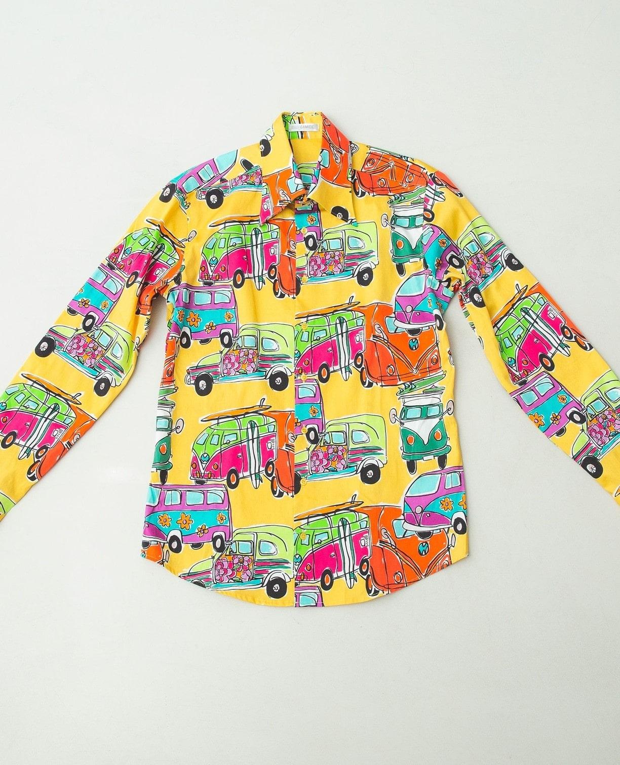 トレボットーニプリント長袖シャツ