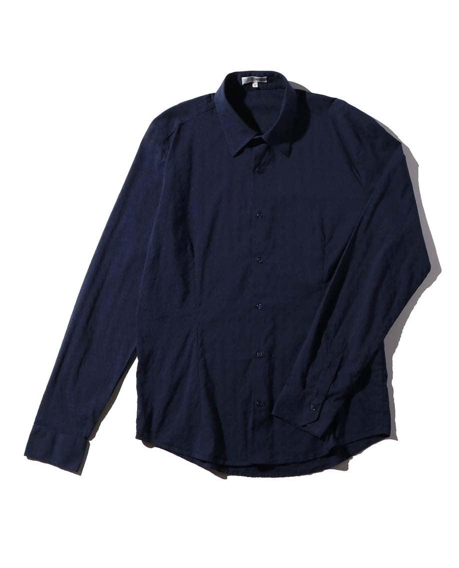 【MEN'S】ダイヤ柄長袖シャツ