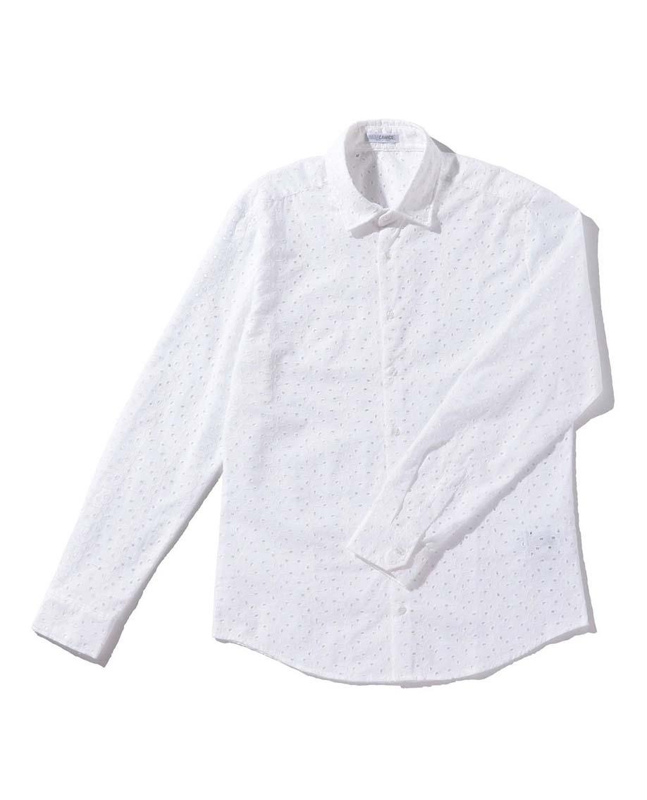 【MEN'S】カットワーク長袖シャツ